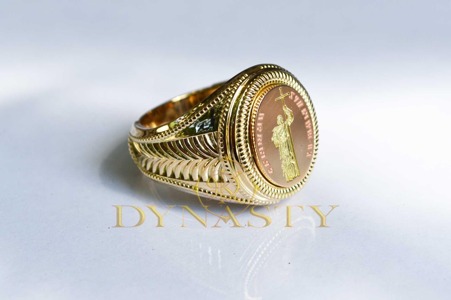 Мужской перстень «Святые»