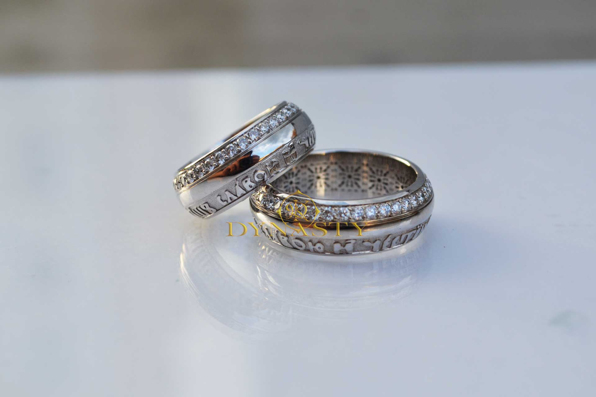 Серебряные венчальные кольца