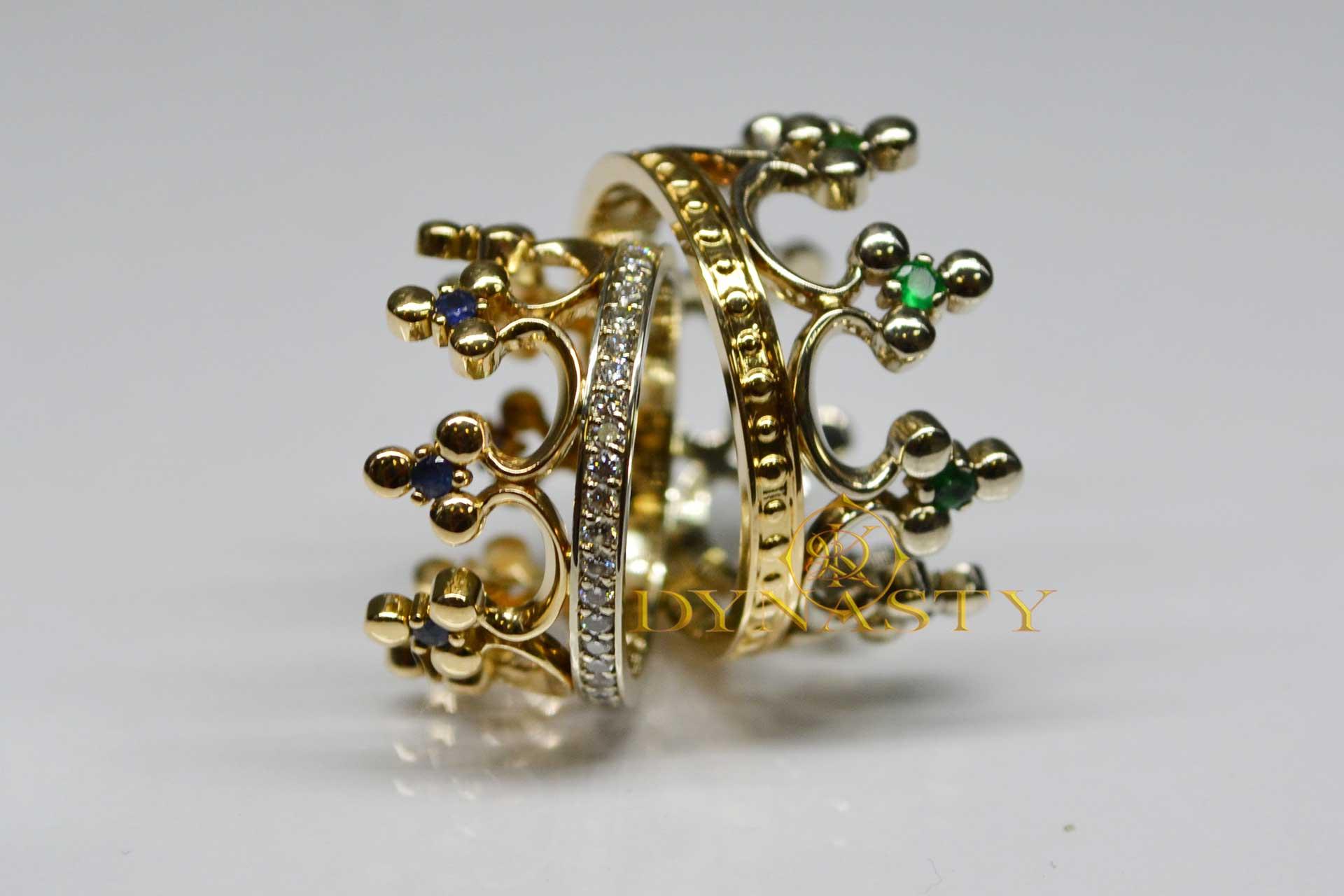 Венчальные кольца корона