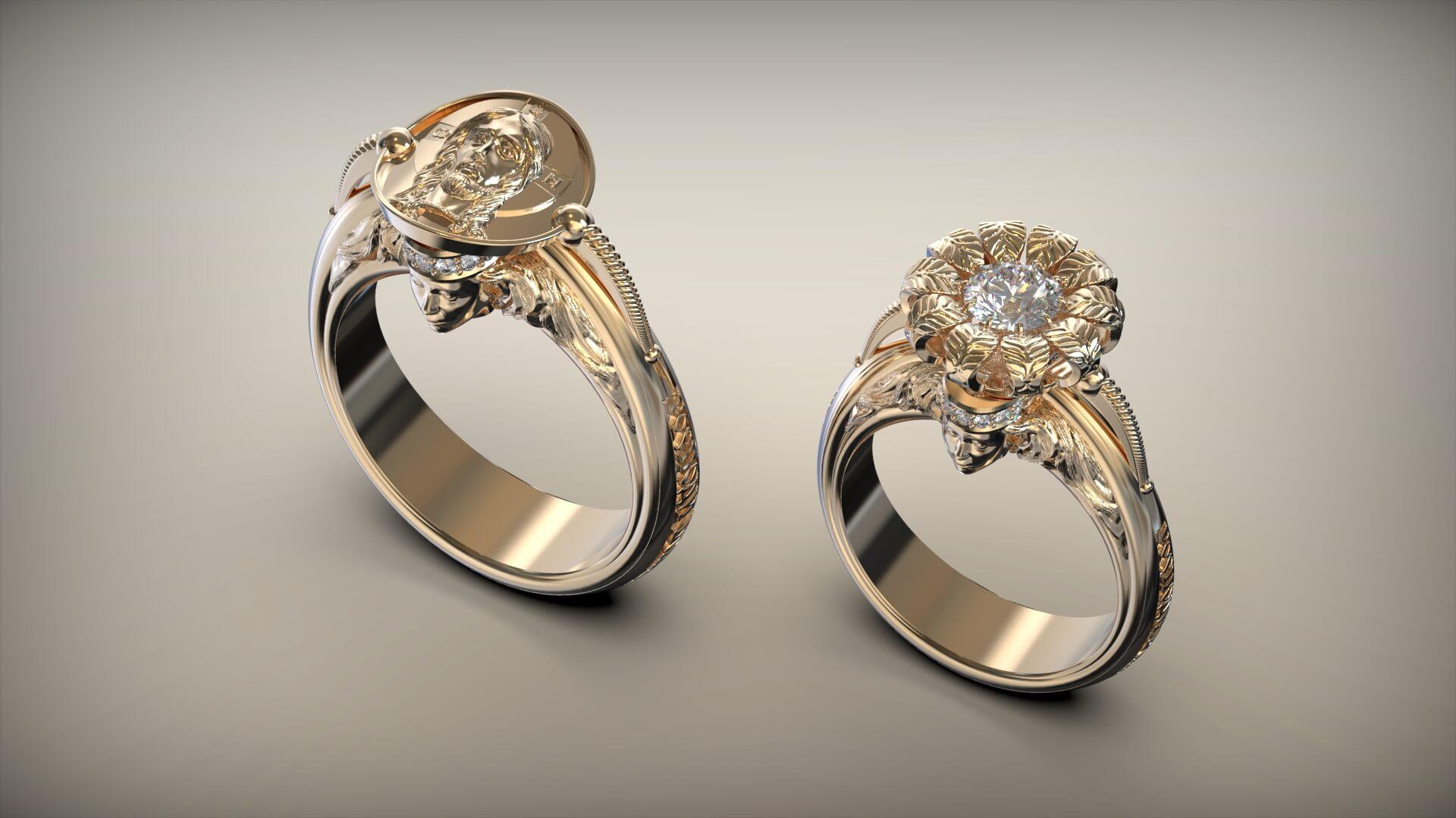 Венчальные кольца цветок христа