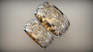 Венчальные кольца венценосный херувим