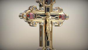 Мужской крест кровь христова