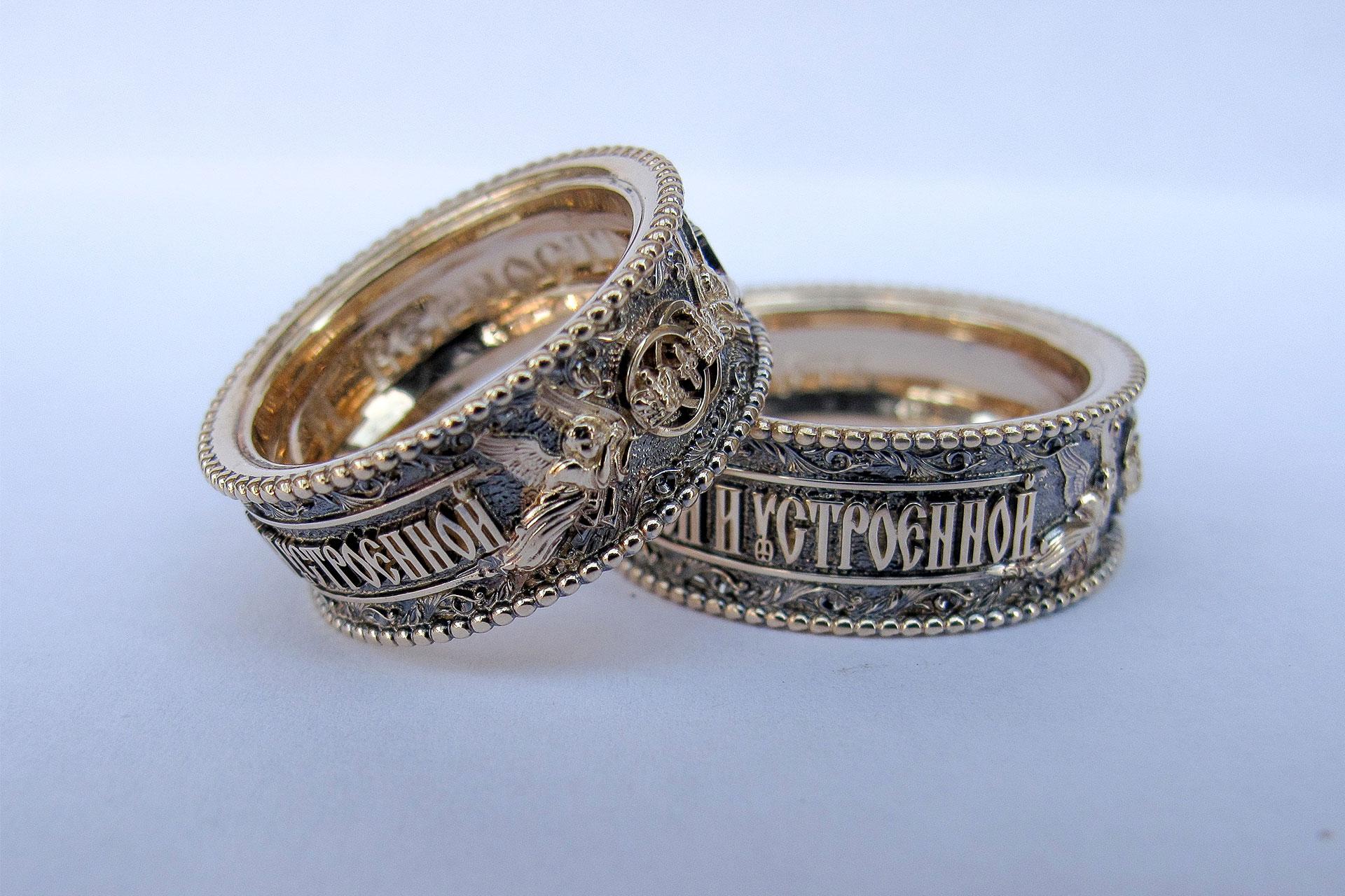 Венчальные кольца с ангелами