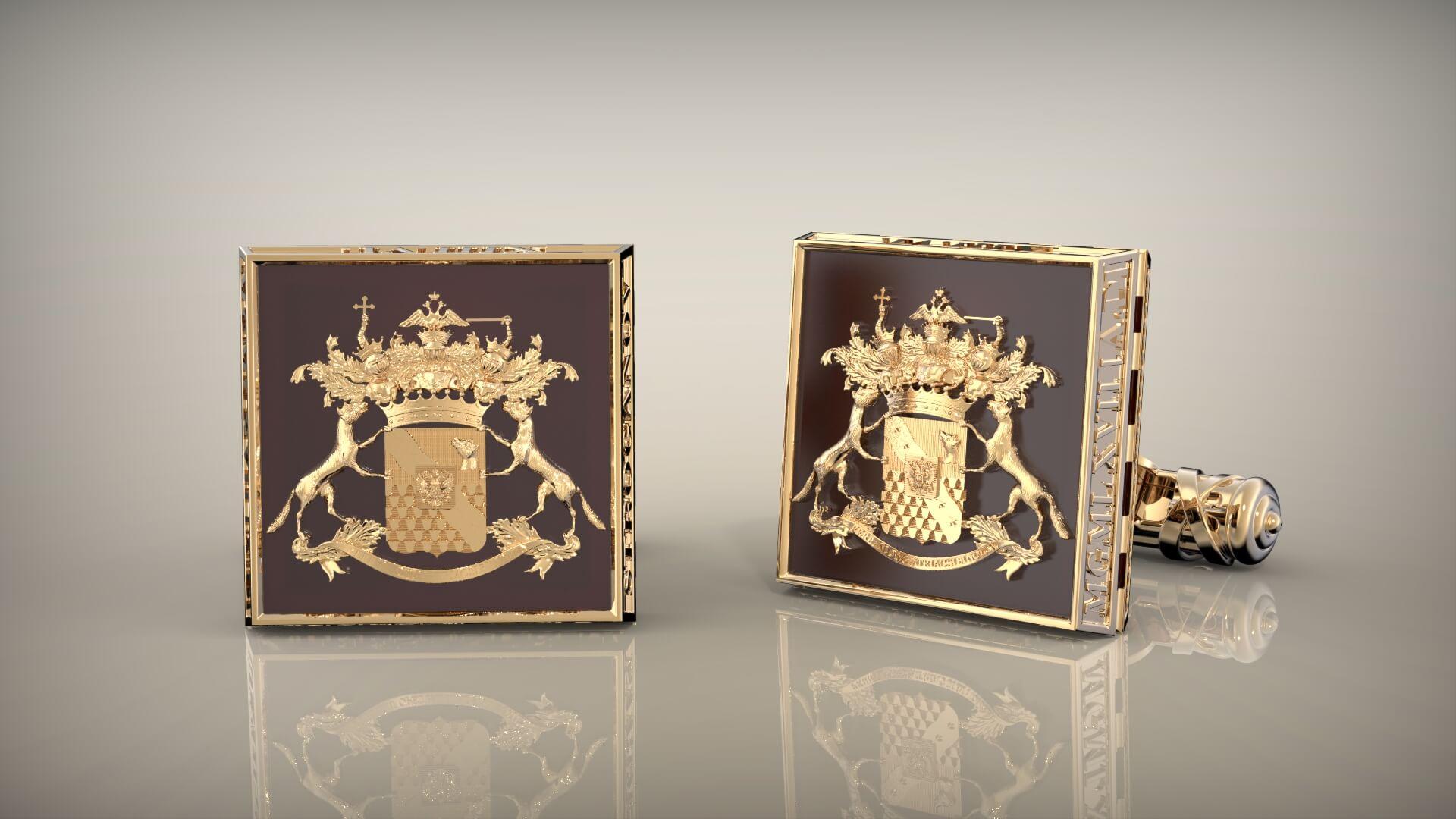Мужские запонки с фамильным гербом