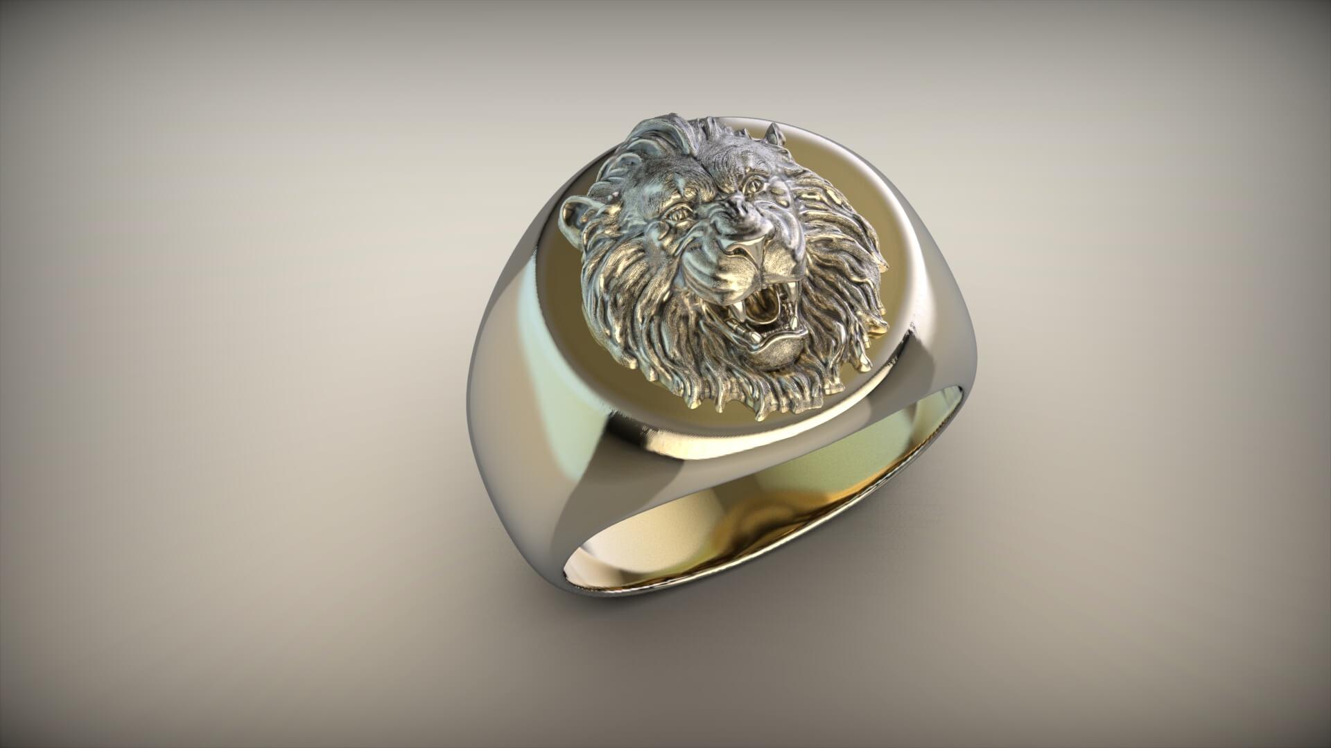 мужской перстень золото прайда