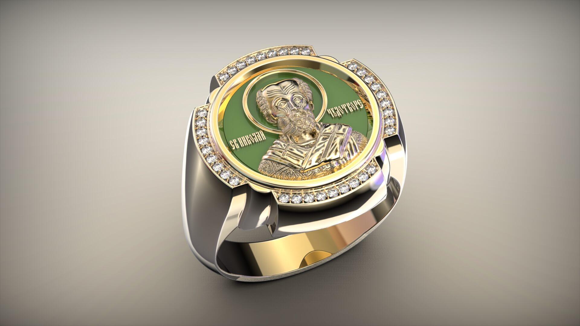Мужской перстень православный