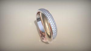 Женское кольцо «Картье»