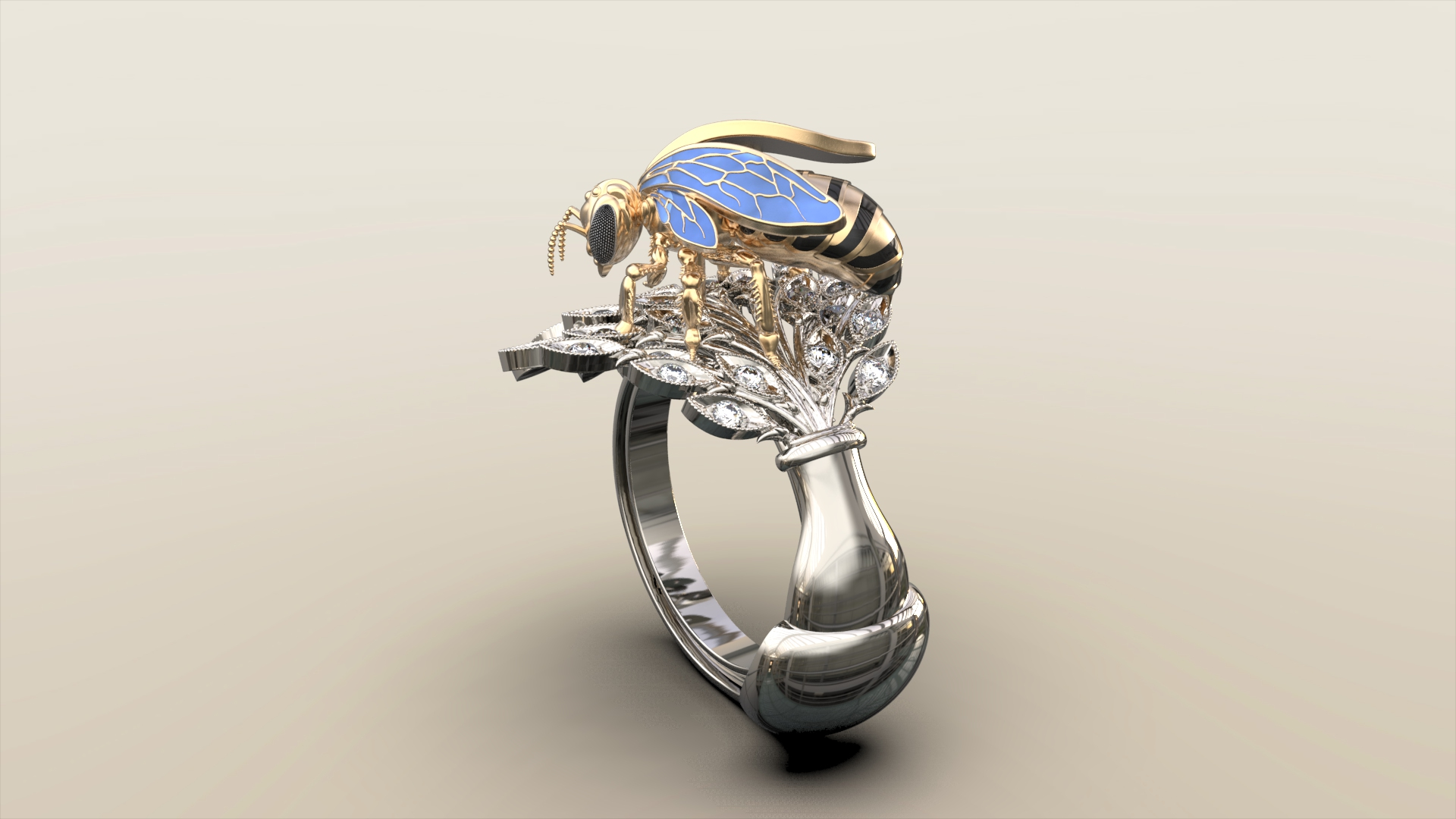 Женское кольцо нектар