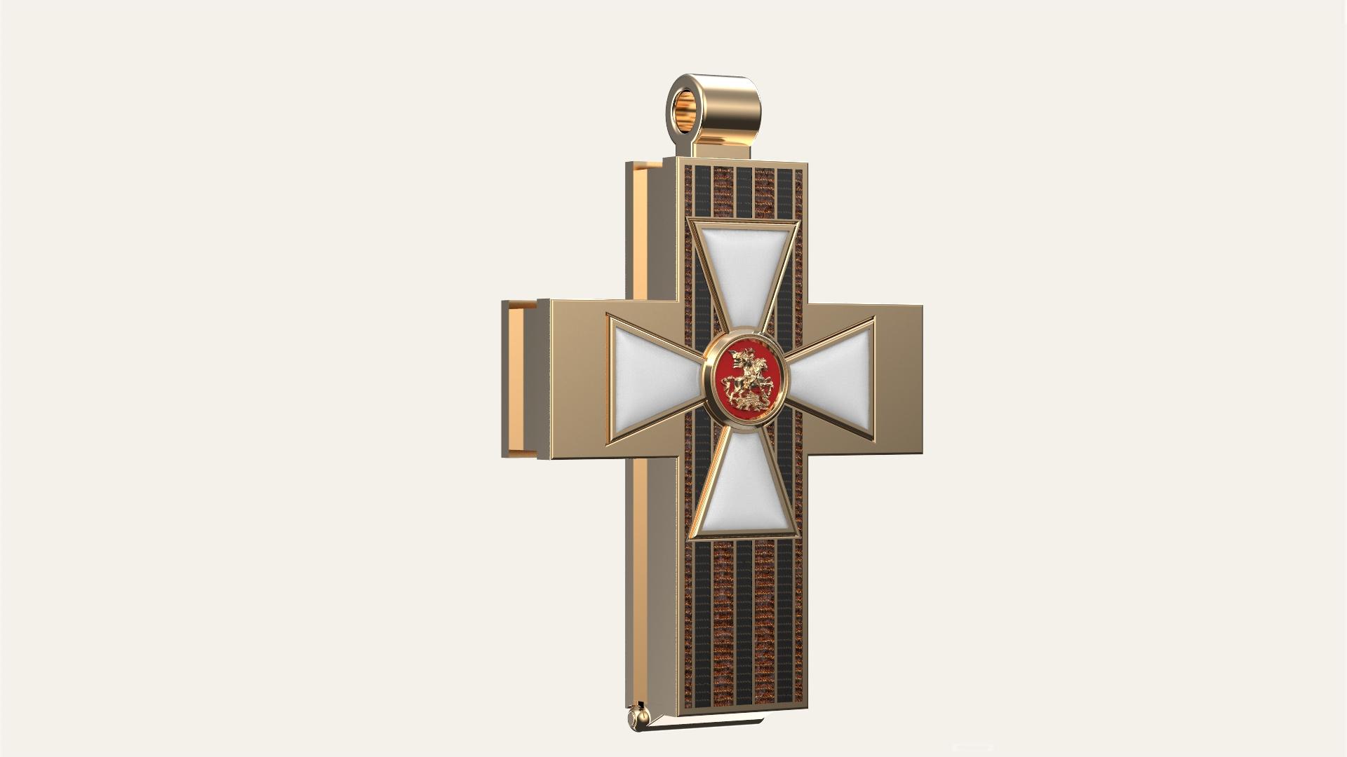 Мужской крест с мощевиком