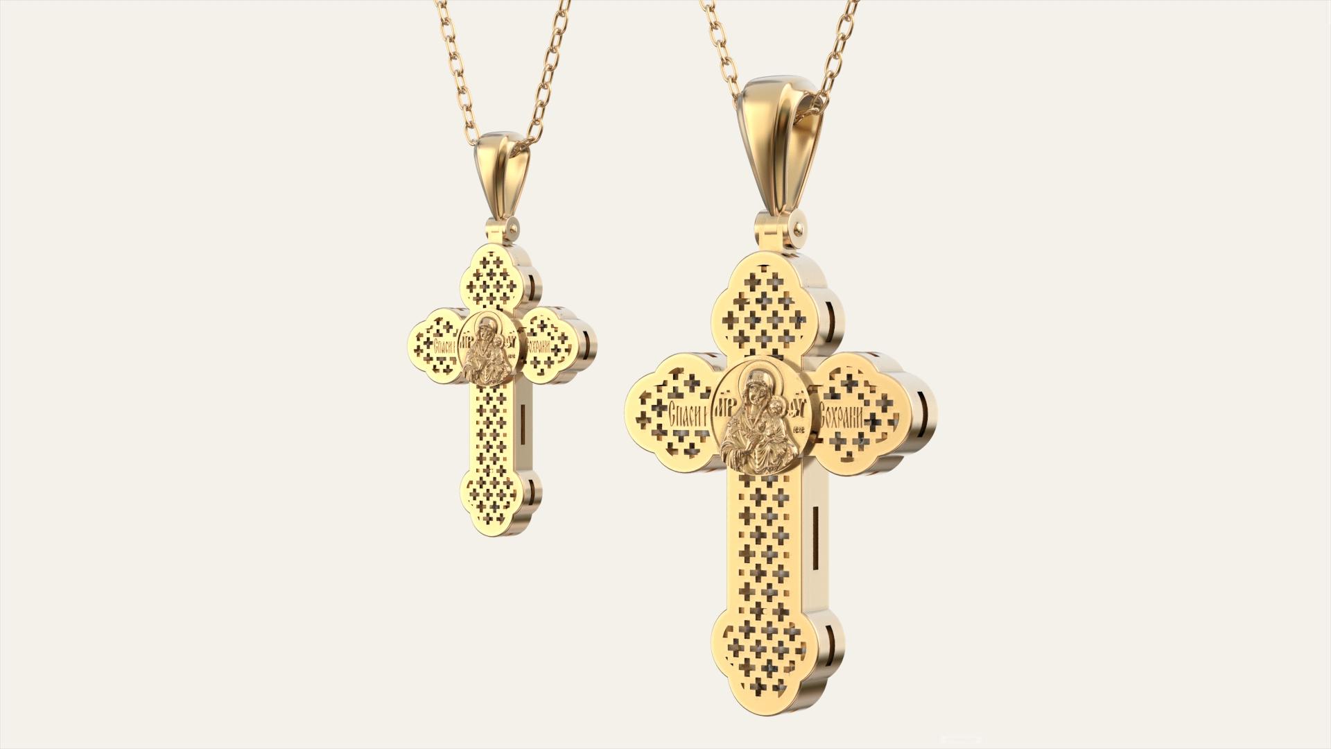 Пара золотых крестов