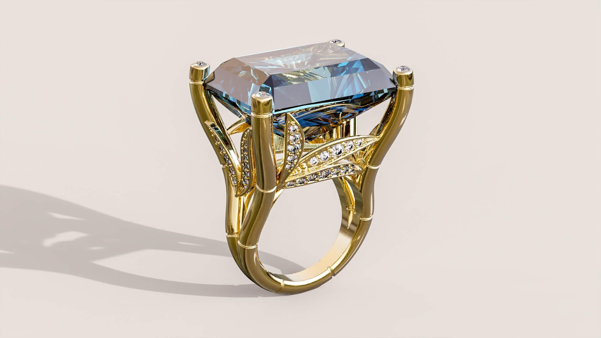 женское кольцо Бамбуковый бриз