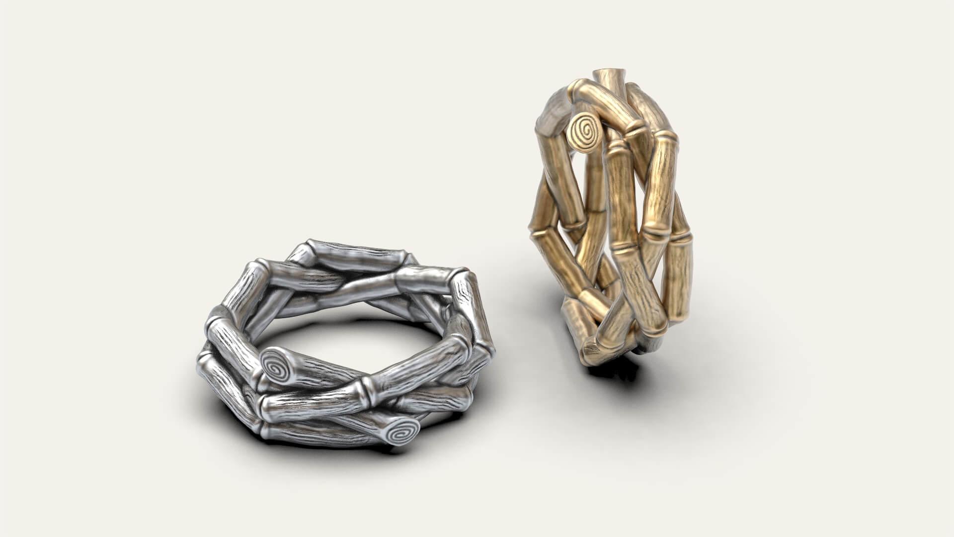 Женское кольцо гнездышко