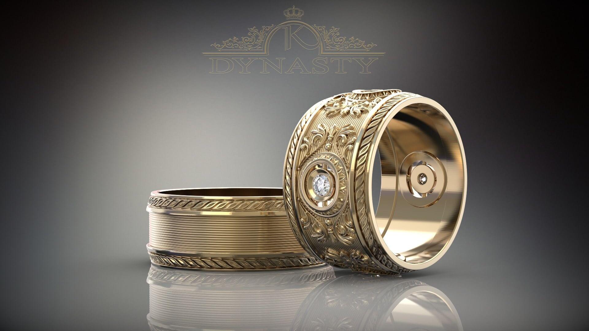 Широкие обручальные кольца династия