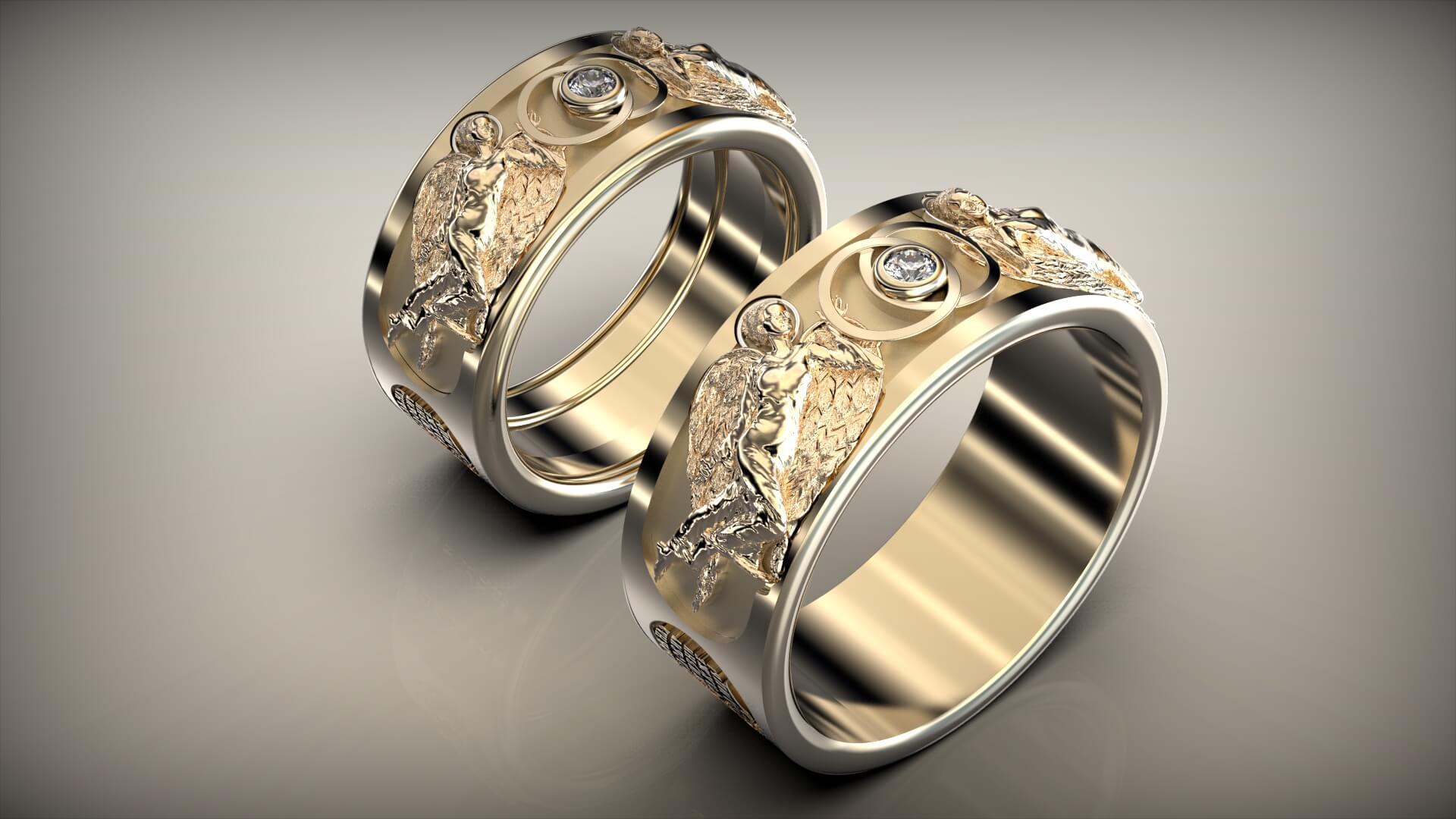 Венчальные кольца плотью едины