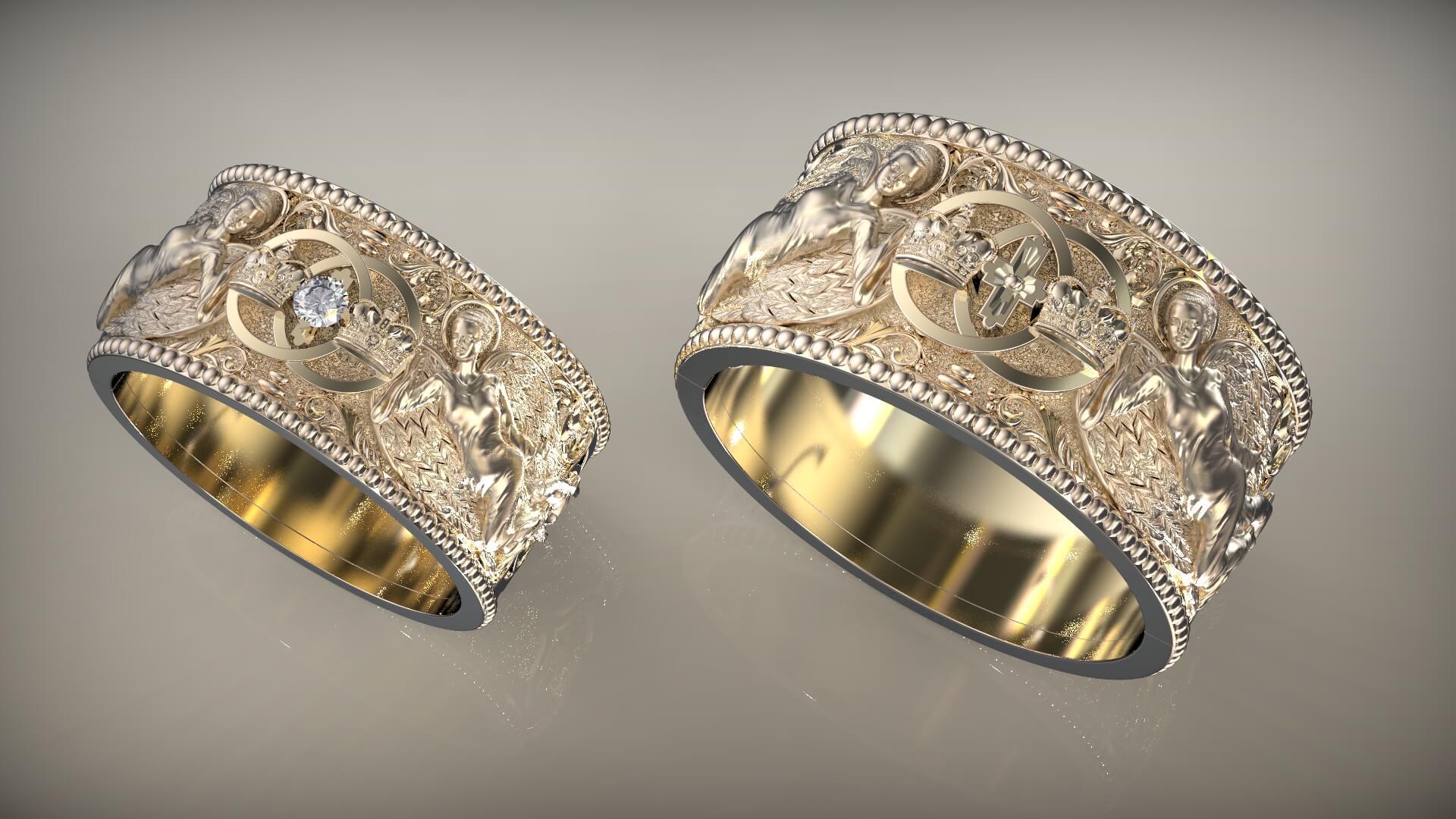 Венчальные кольца, что бог сочетал