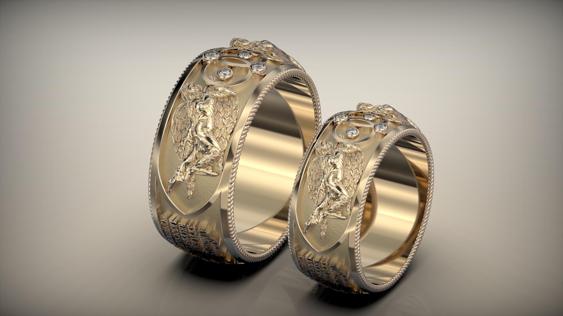 Картинка кольца венчальные