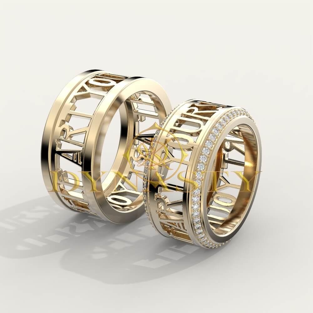 Обручальные кольца сквозная резьба