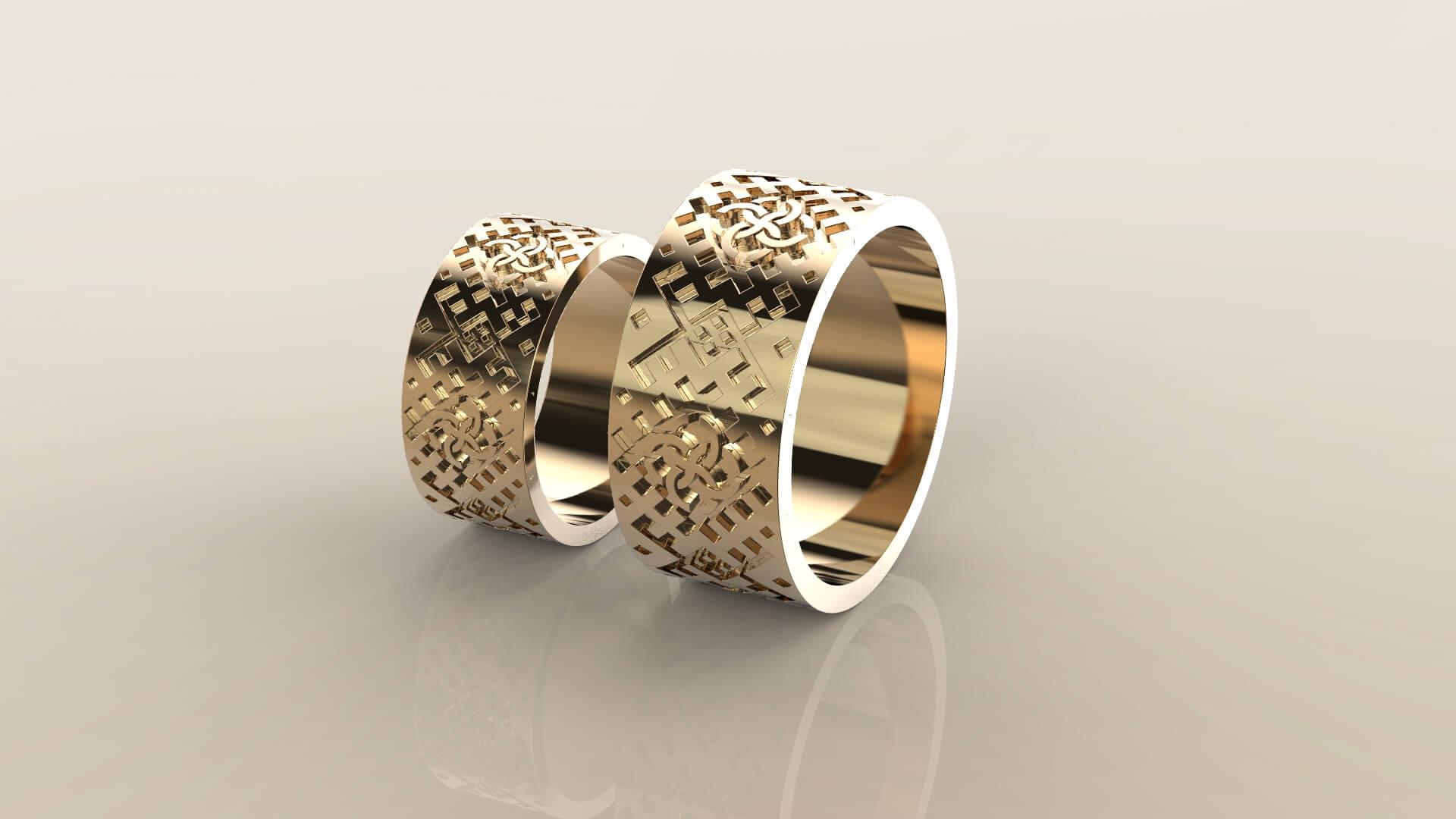Широкие обручальные кольца радогост