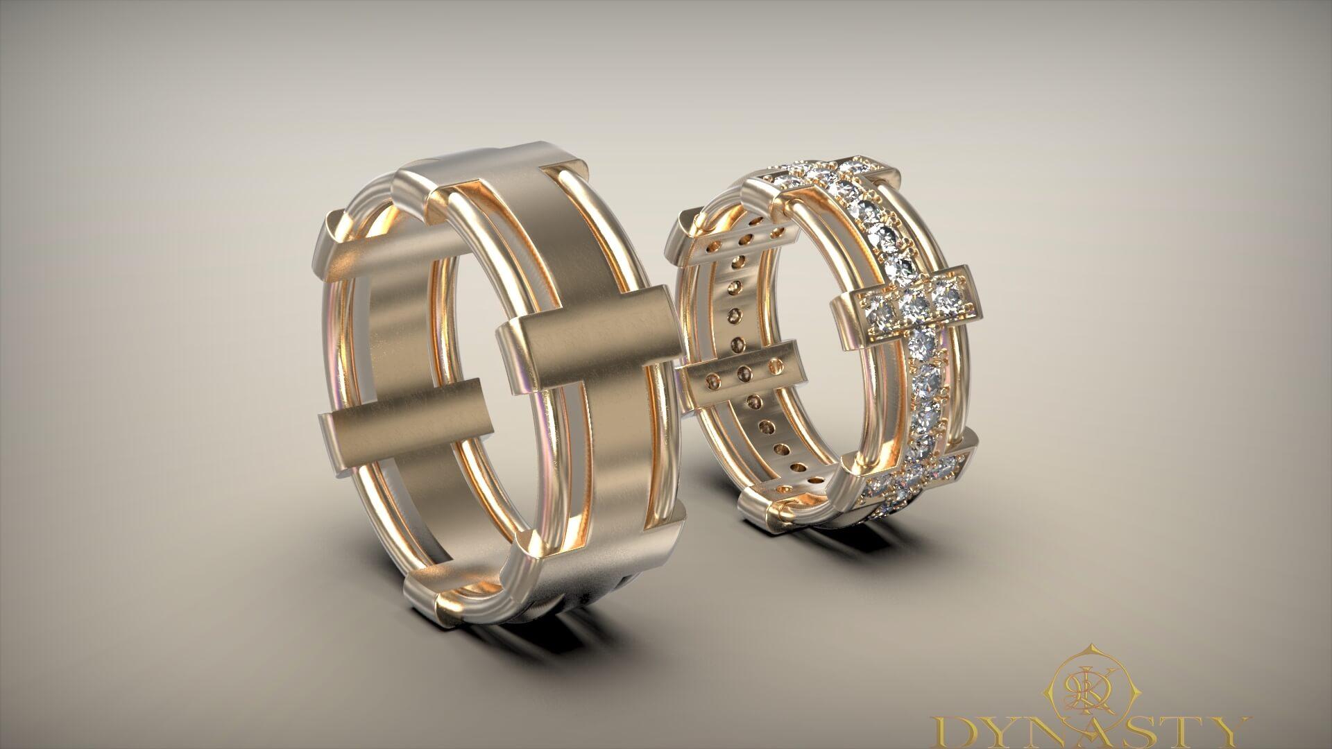 Обручальные кольца короны