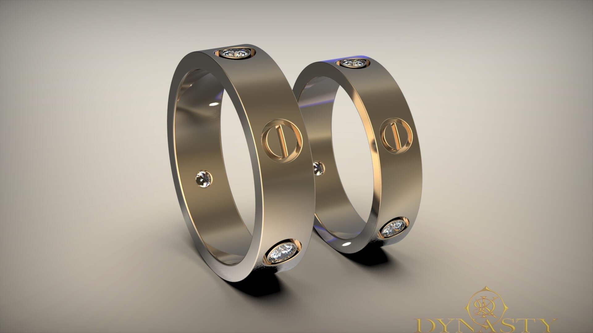 Обручальные кольца минималистические