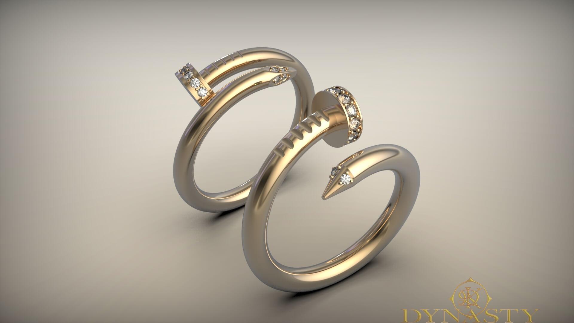 Обручальные кольца гвоздики
