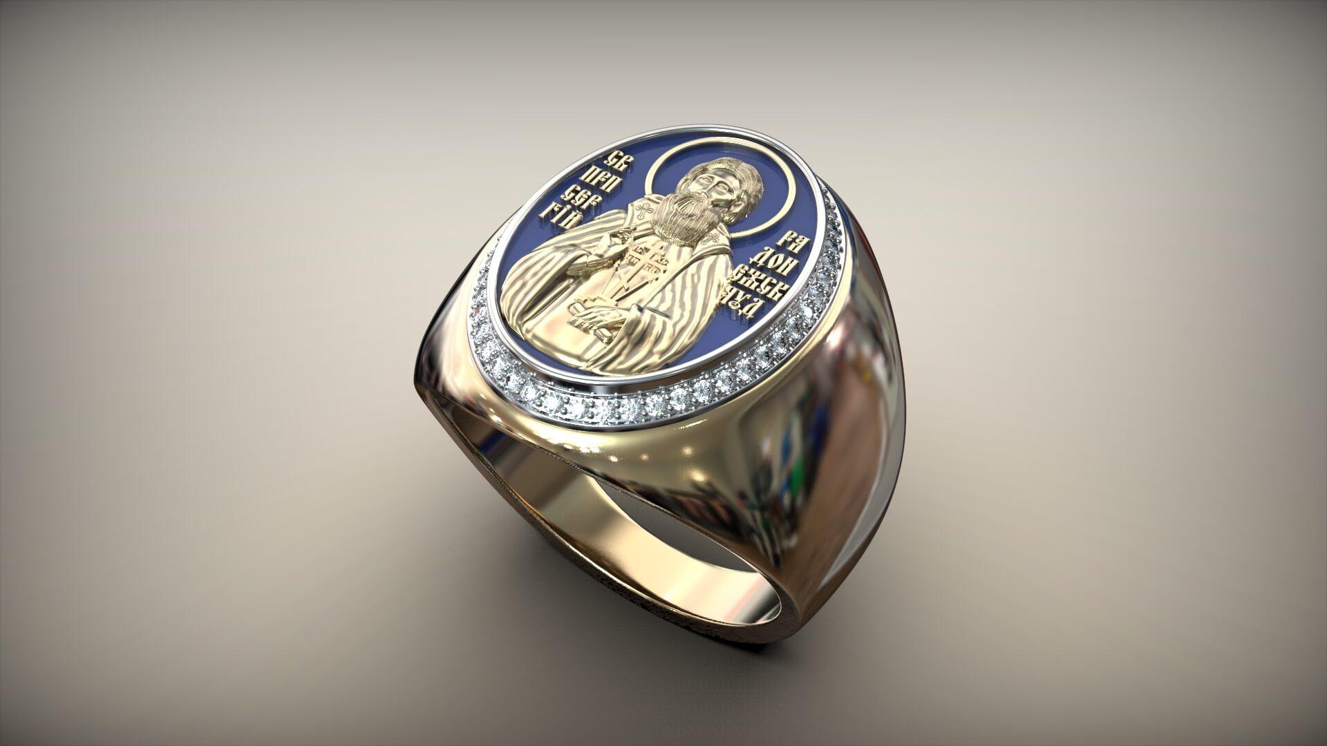 Мужской перстень святой