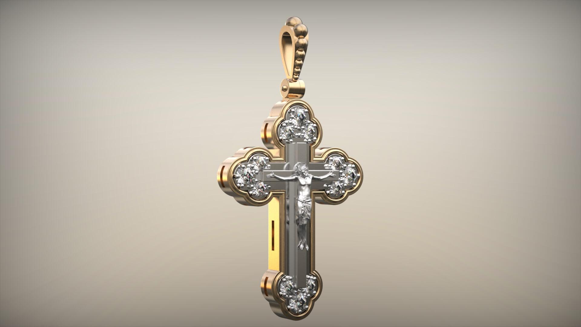 Мужской золотой крест