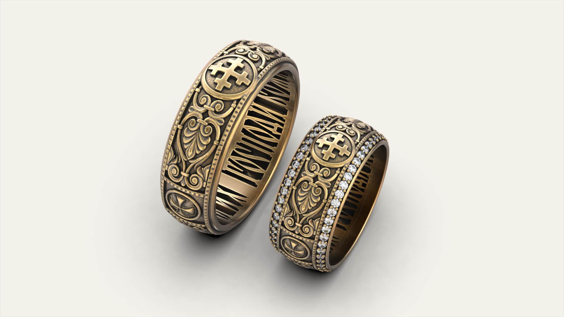 Венчальные кольца «Кросслет»