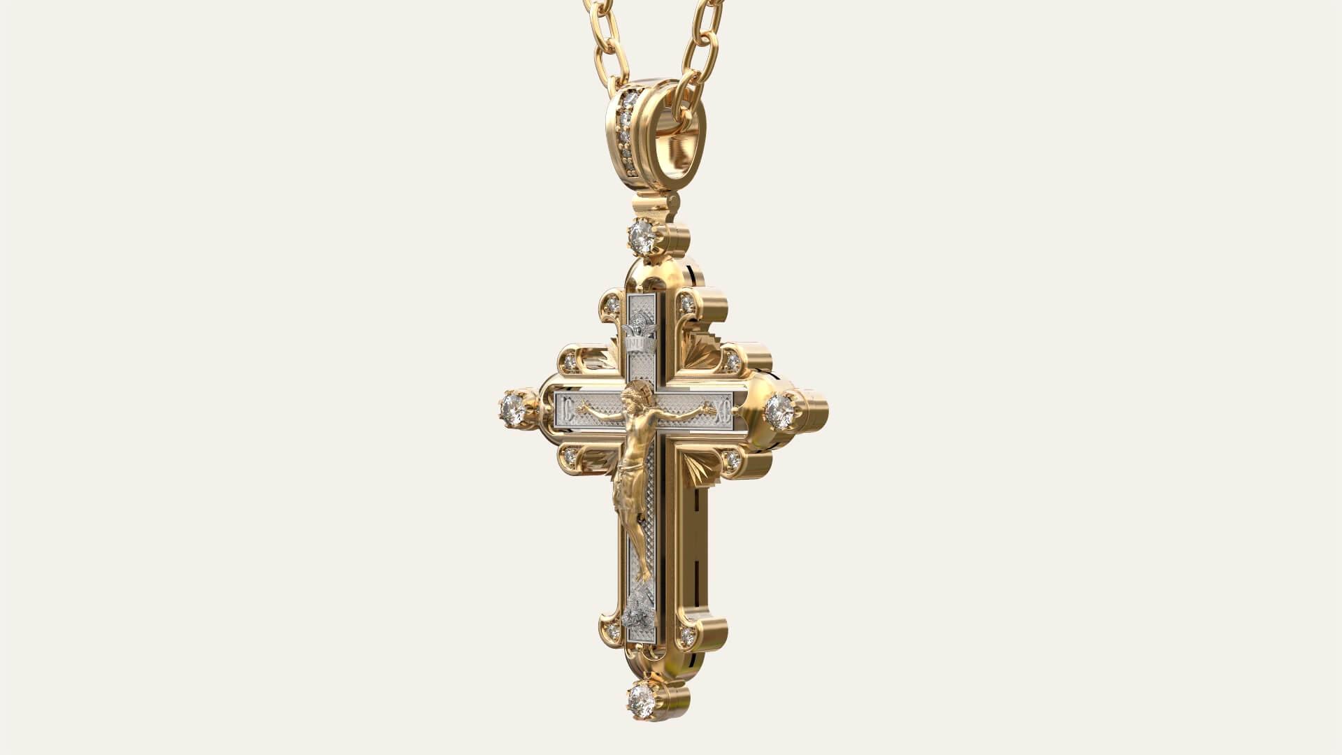Мужской крест из золота