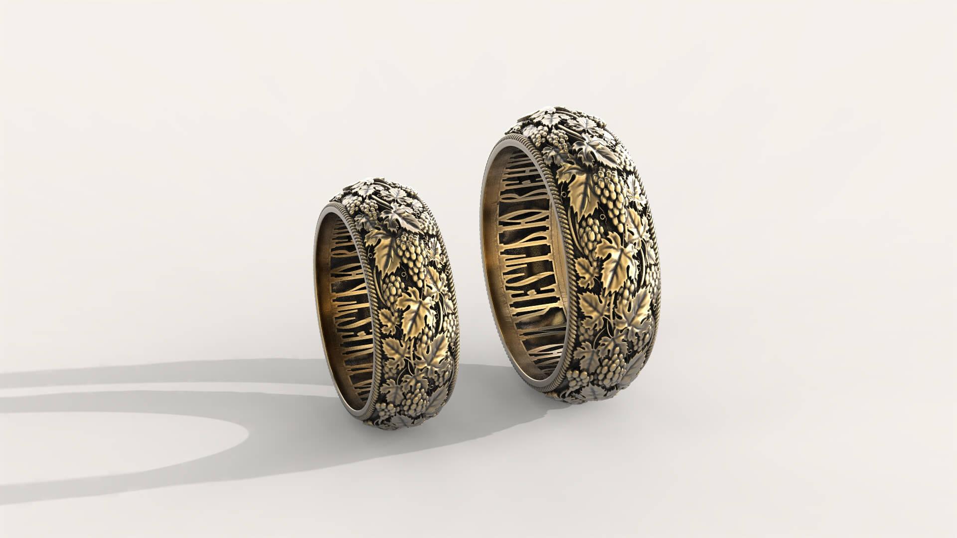 Венчальные кольца с эксклюзивным дизайном