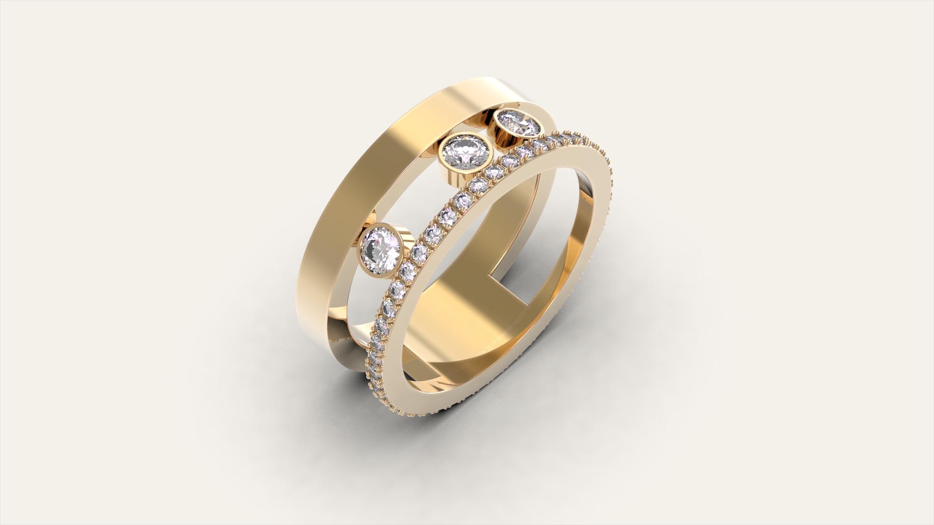 Женское кольцо Миллениум