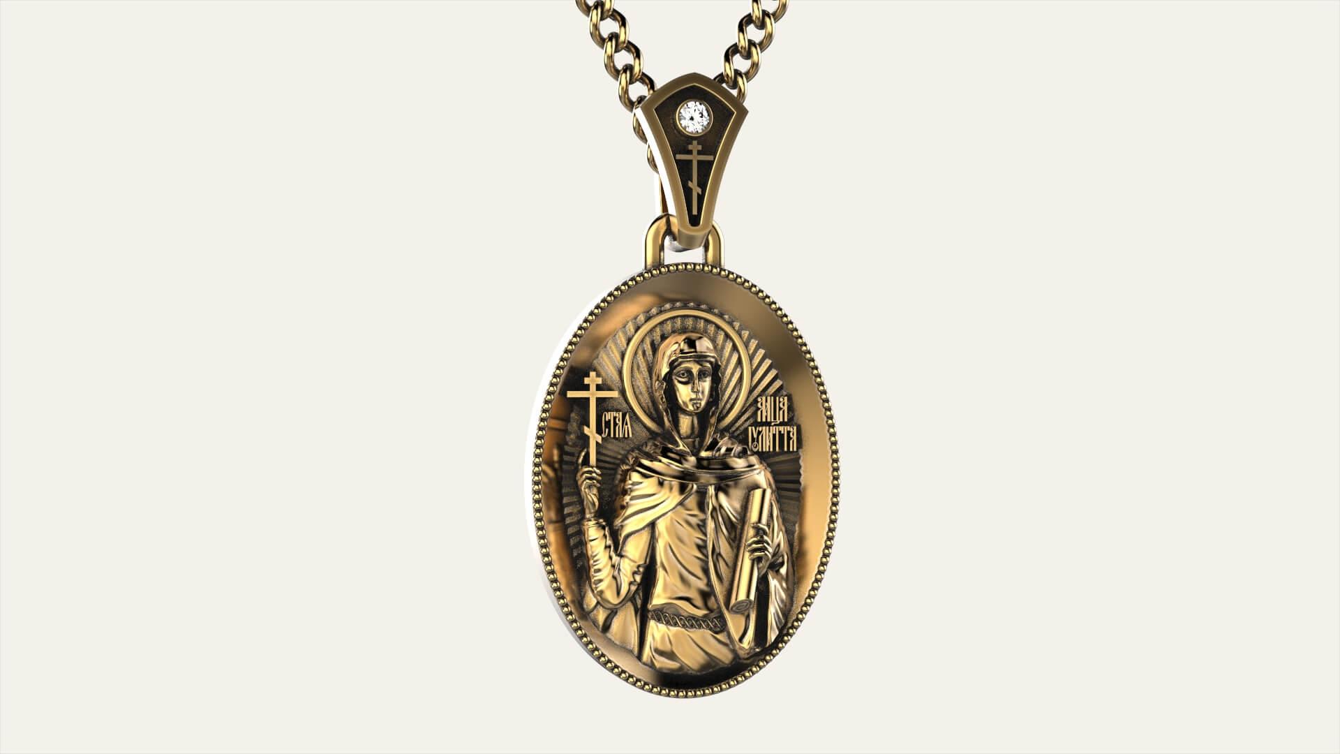 Женский кулон с изображением Святой Иулитты