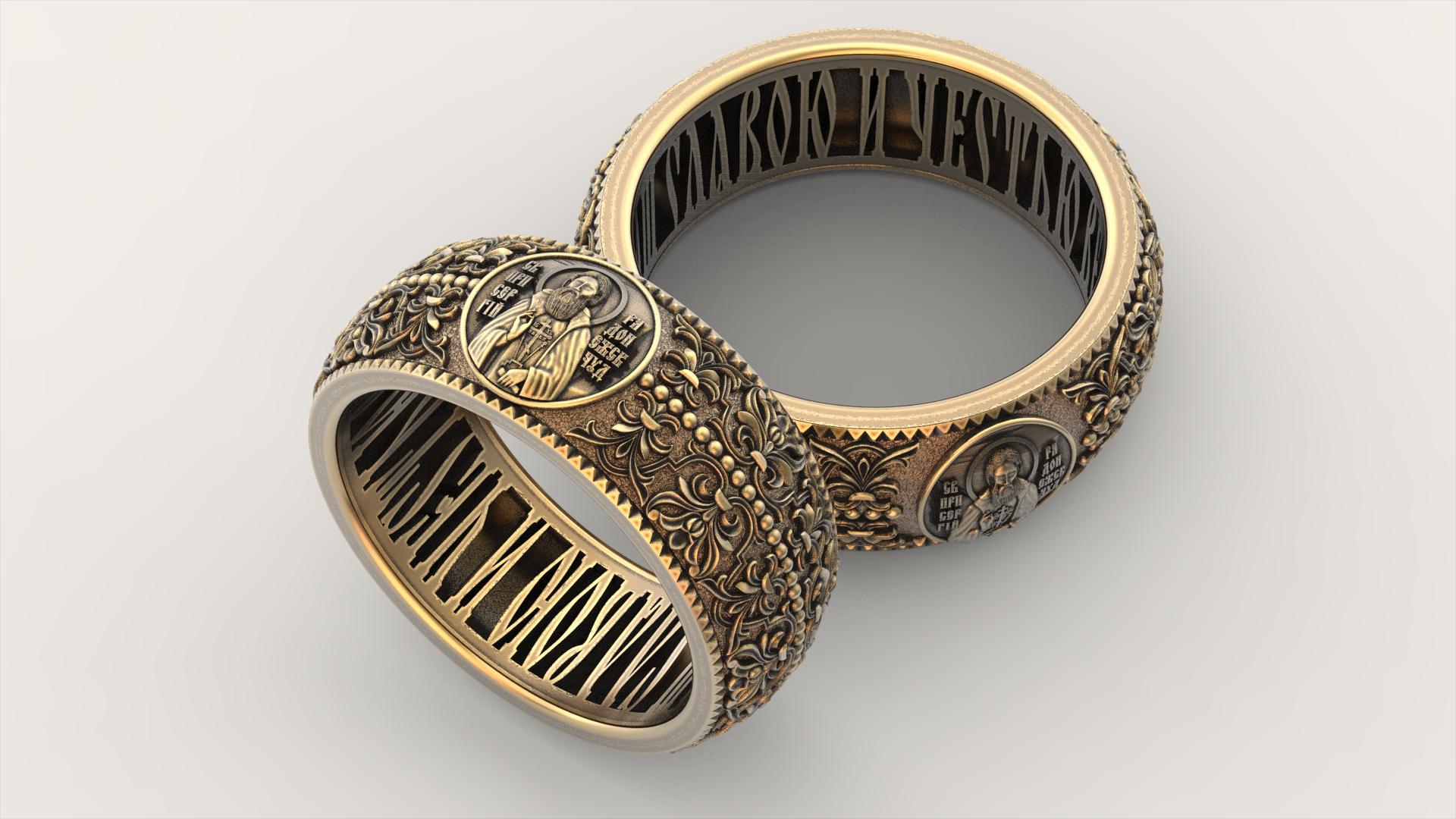 венчальные кольца с изображением лика покровительствующего Вам и Вашей паре святого
