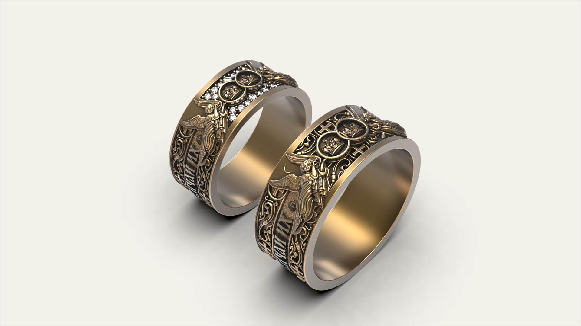 Венчальные кольца парящие Херувимы