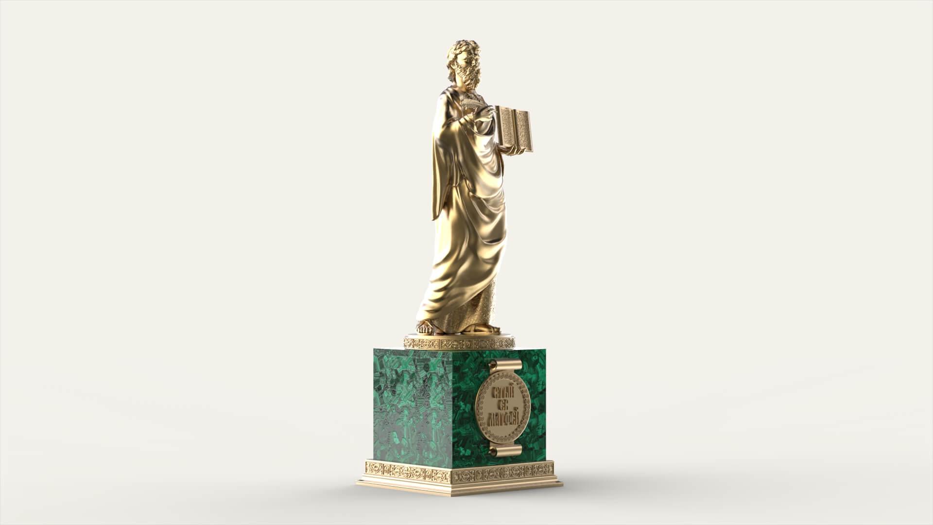 Церковная скульптура «Святой Матфей»