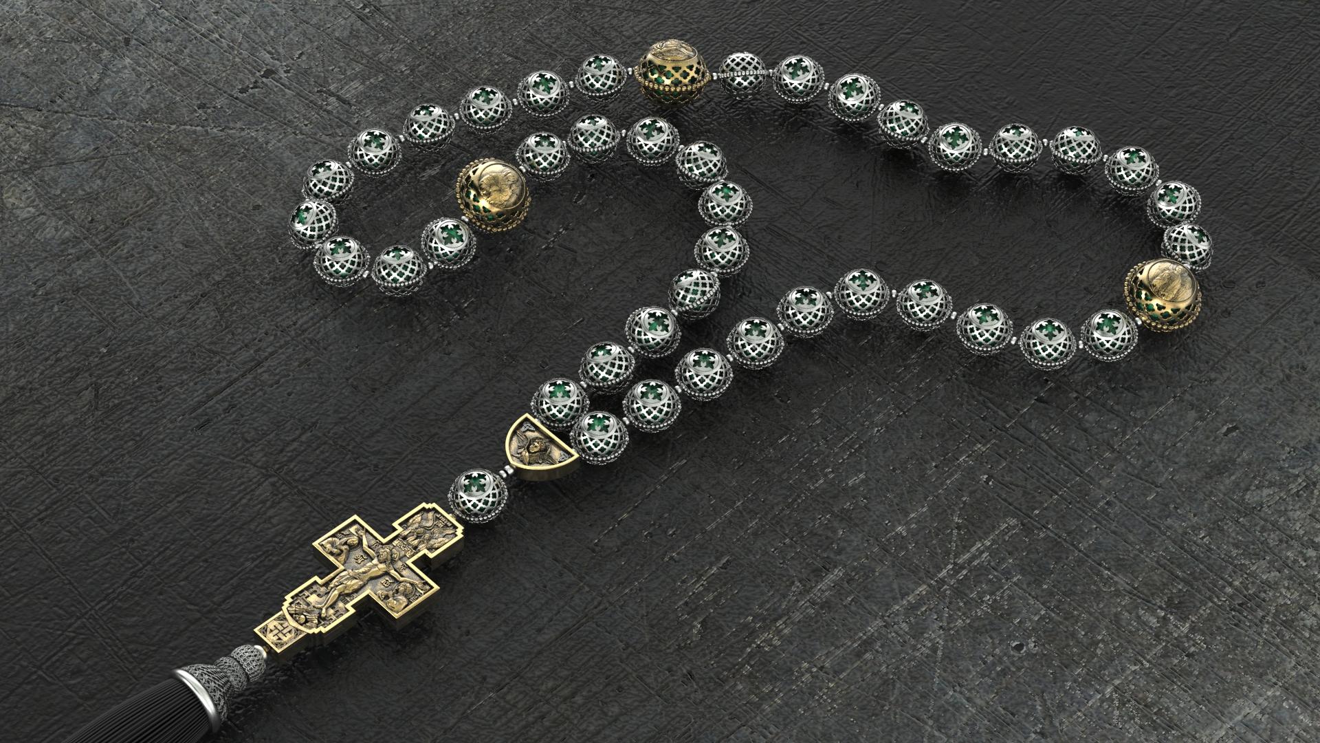 Православные четки «Малахит»