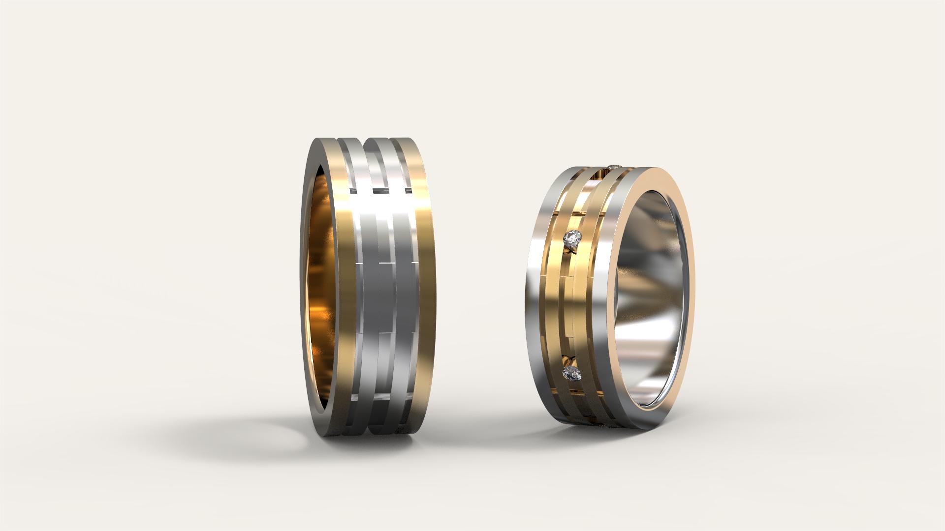 Обручальные кольца «Дуэт»