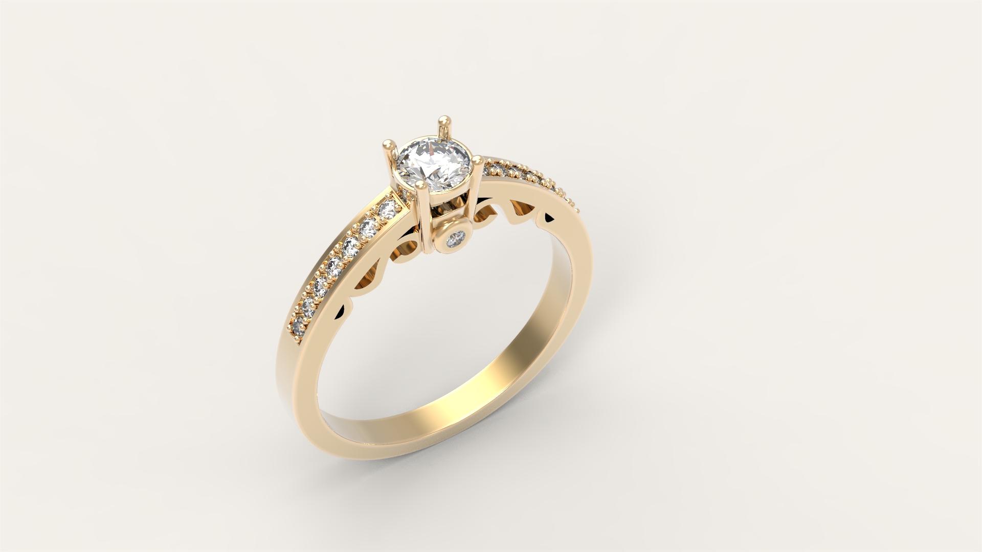 Кольцо для помолвки «Диадема»