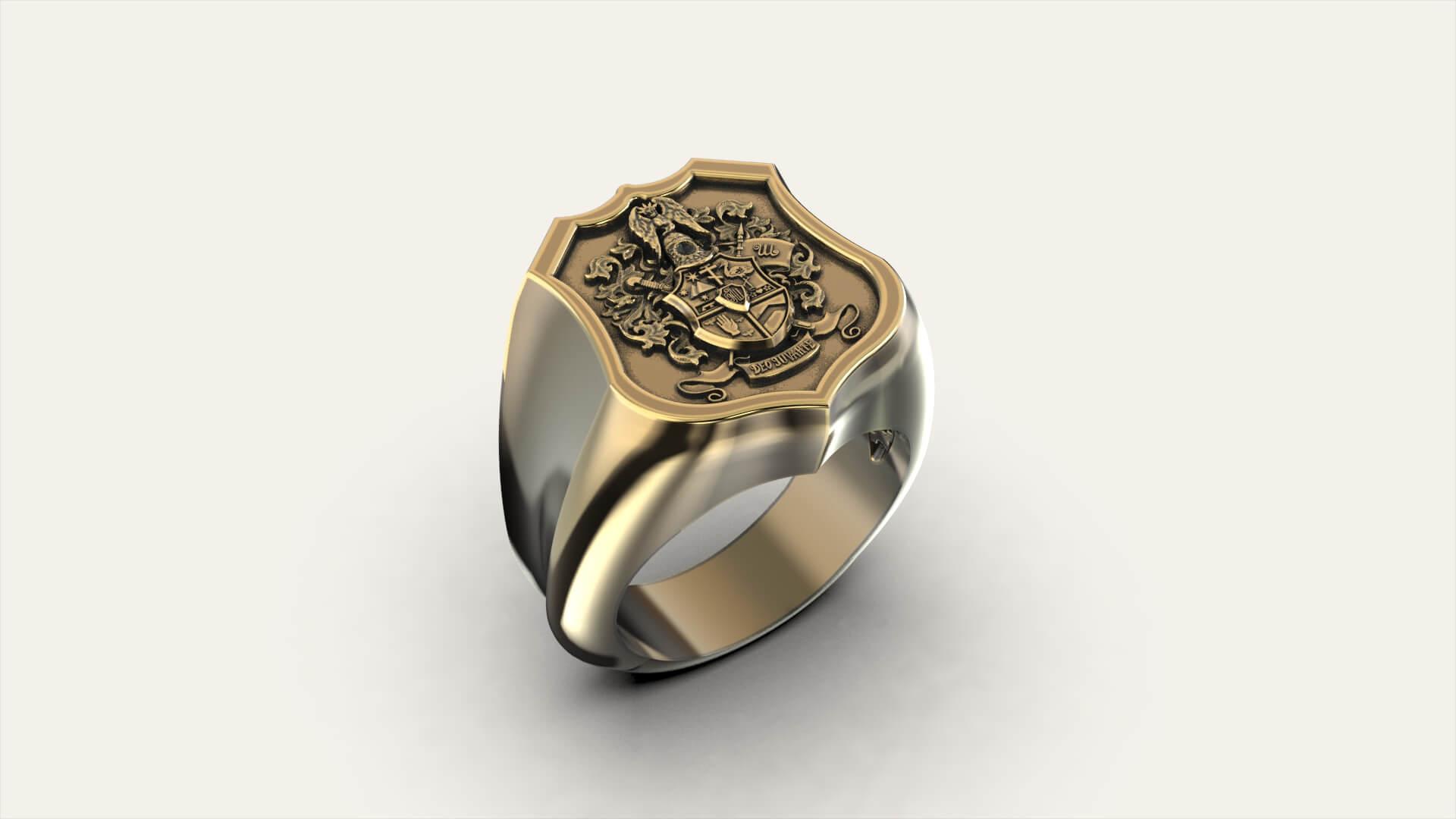 Мужской перстень «Фамильный герб»