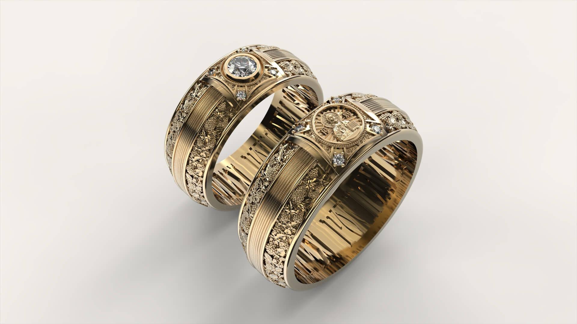 Венчальные кольца «Звезда Иисуса»