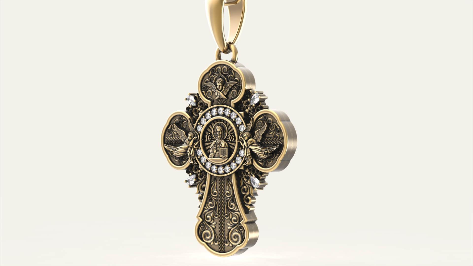 Православный крест «Ангелы»