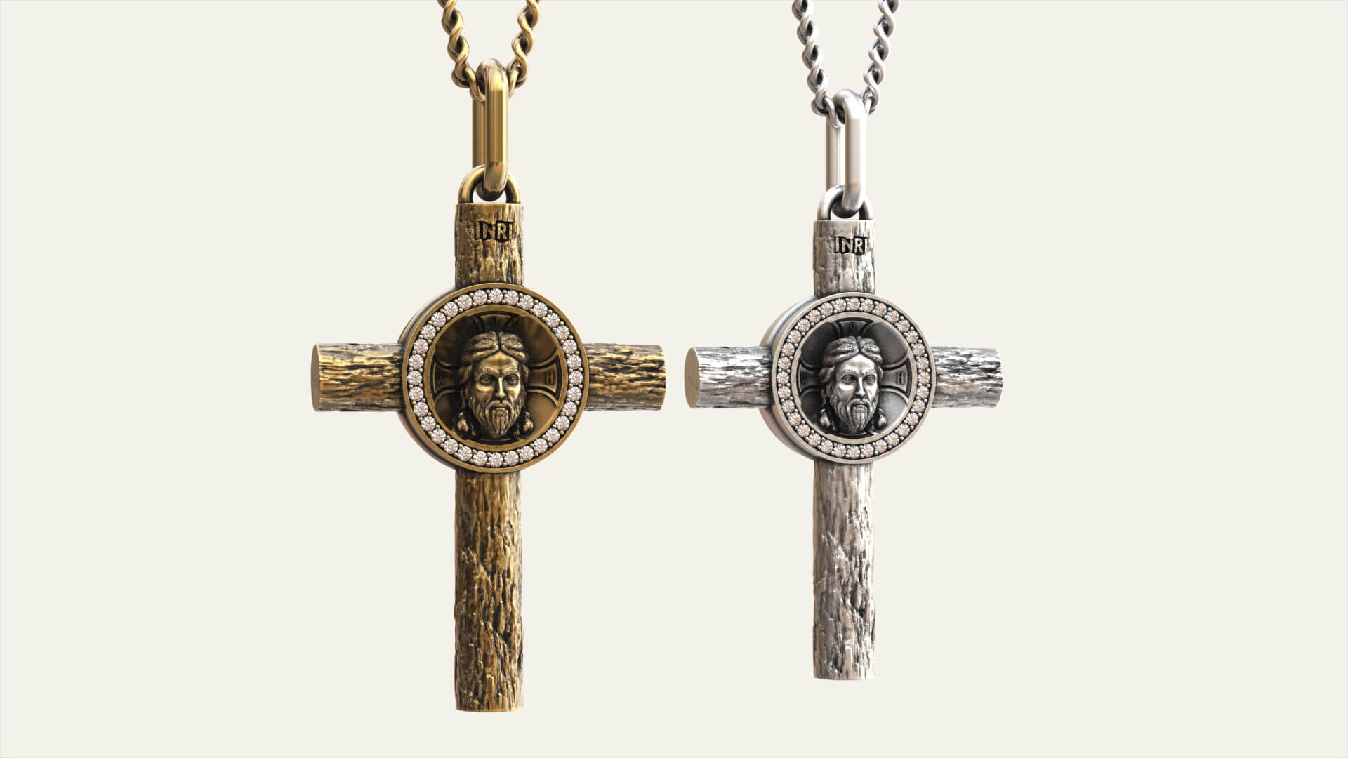 Мужской крест «Бревна»
