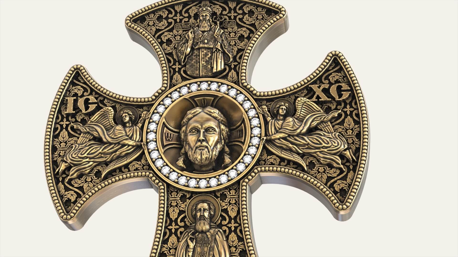 Мужской крест «Сергий Радонежский»