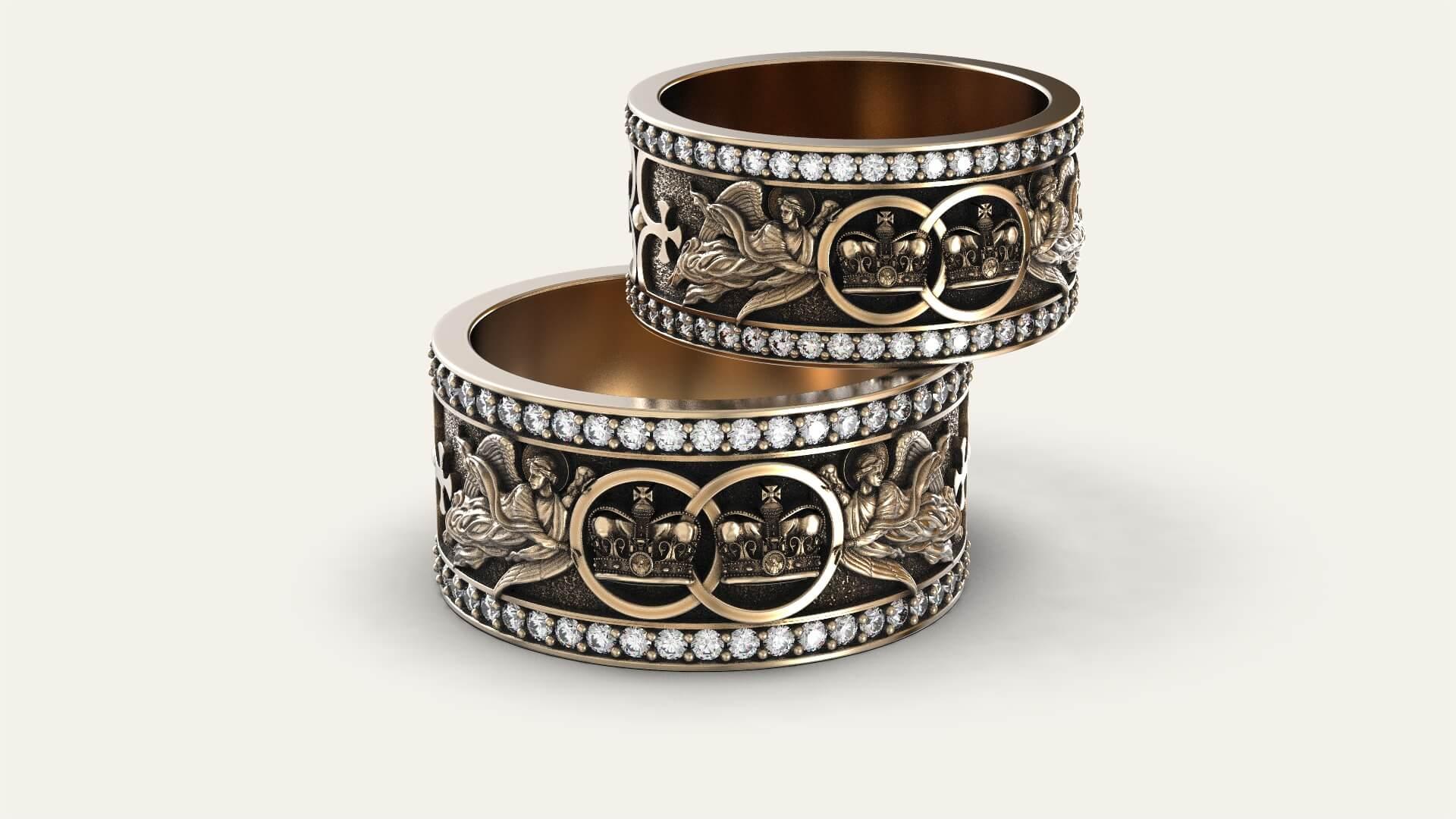 Венчальные кольца «Верность нашего союза»