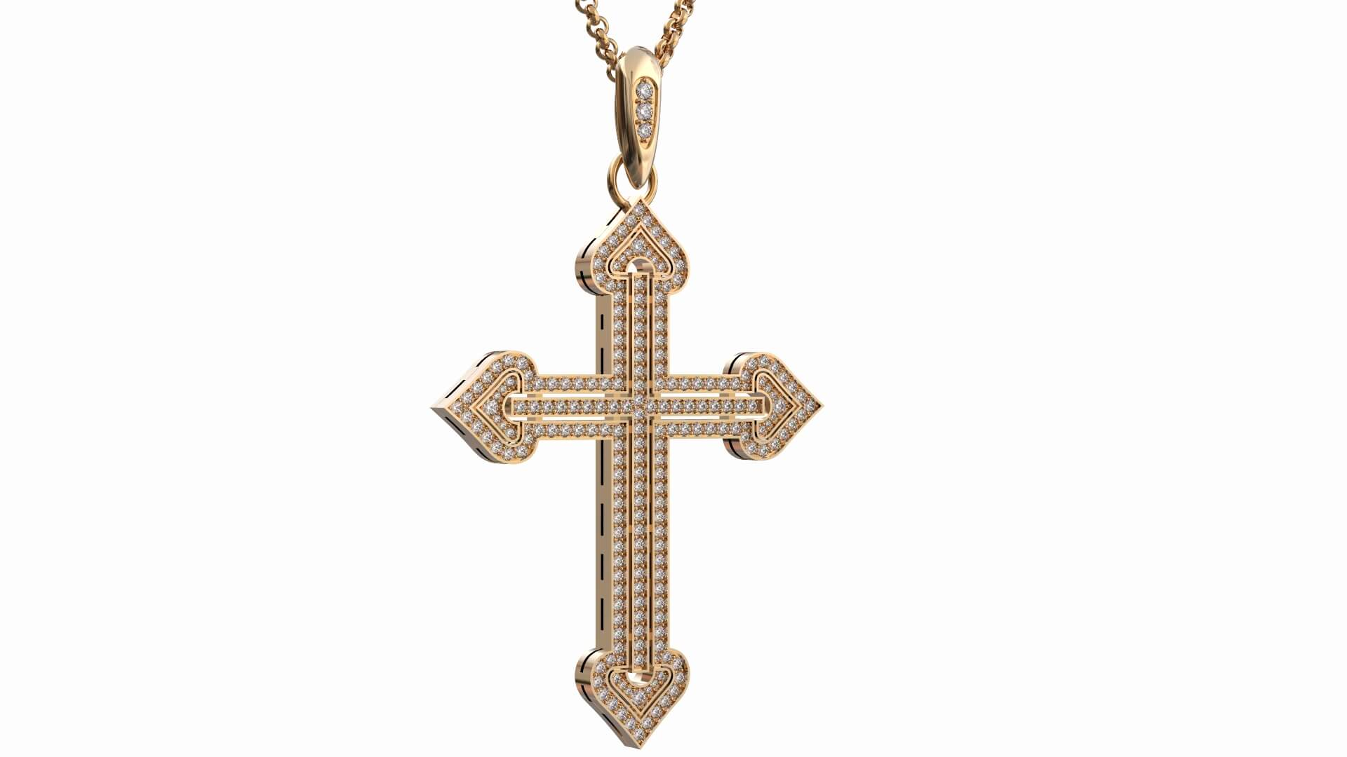 Золотой женский крест «Бриллиант Веры»