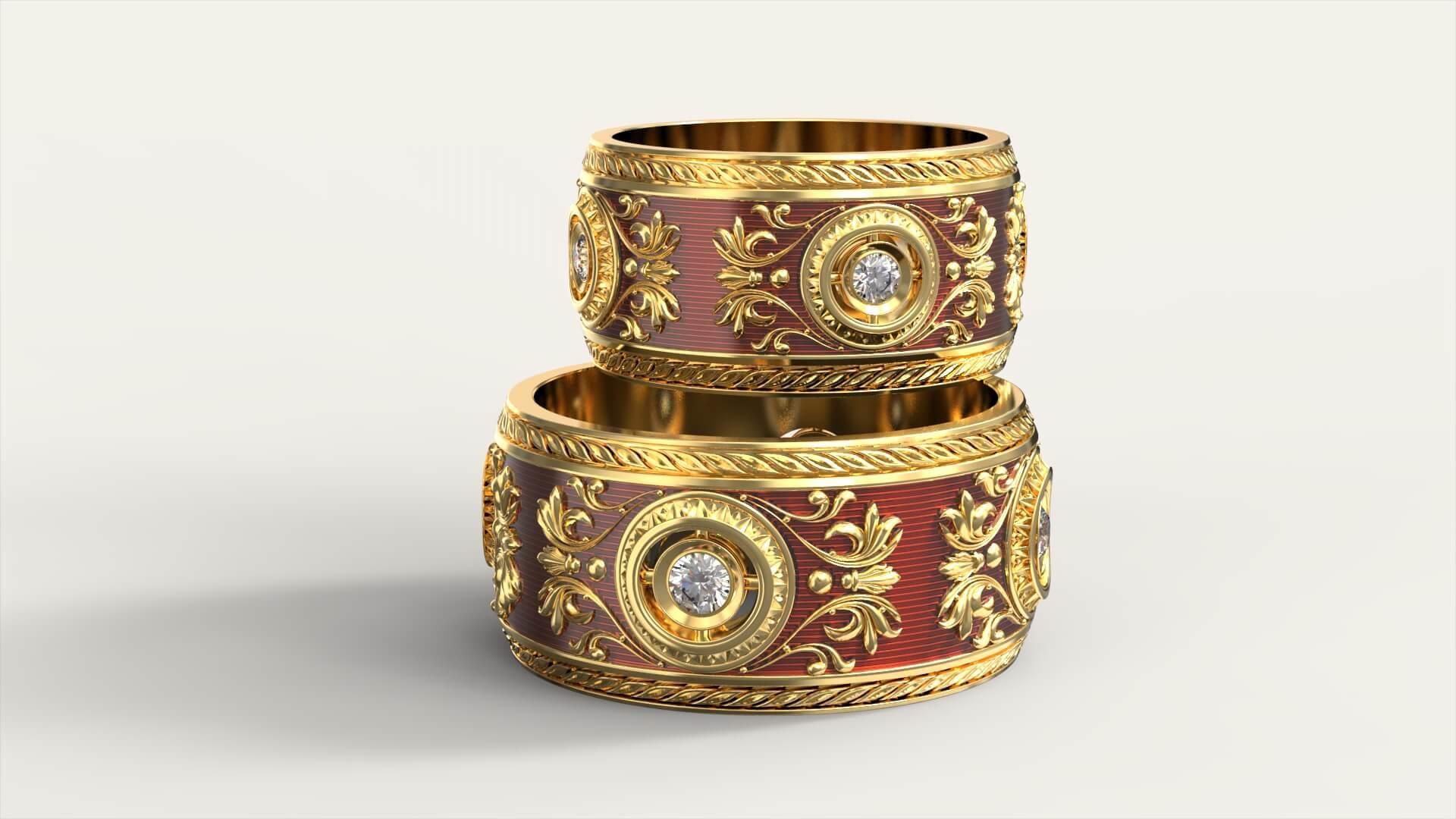 Обручальные кольца «Арабеска»