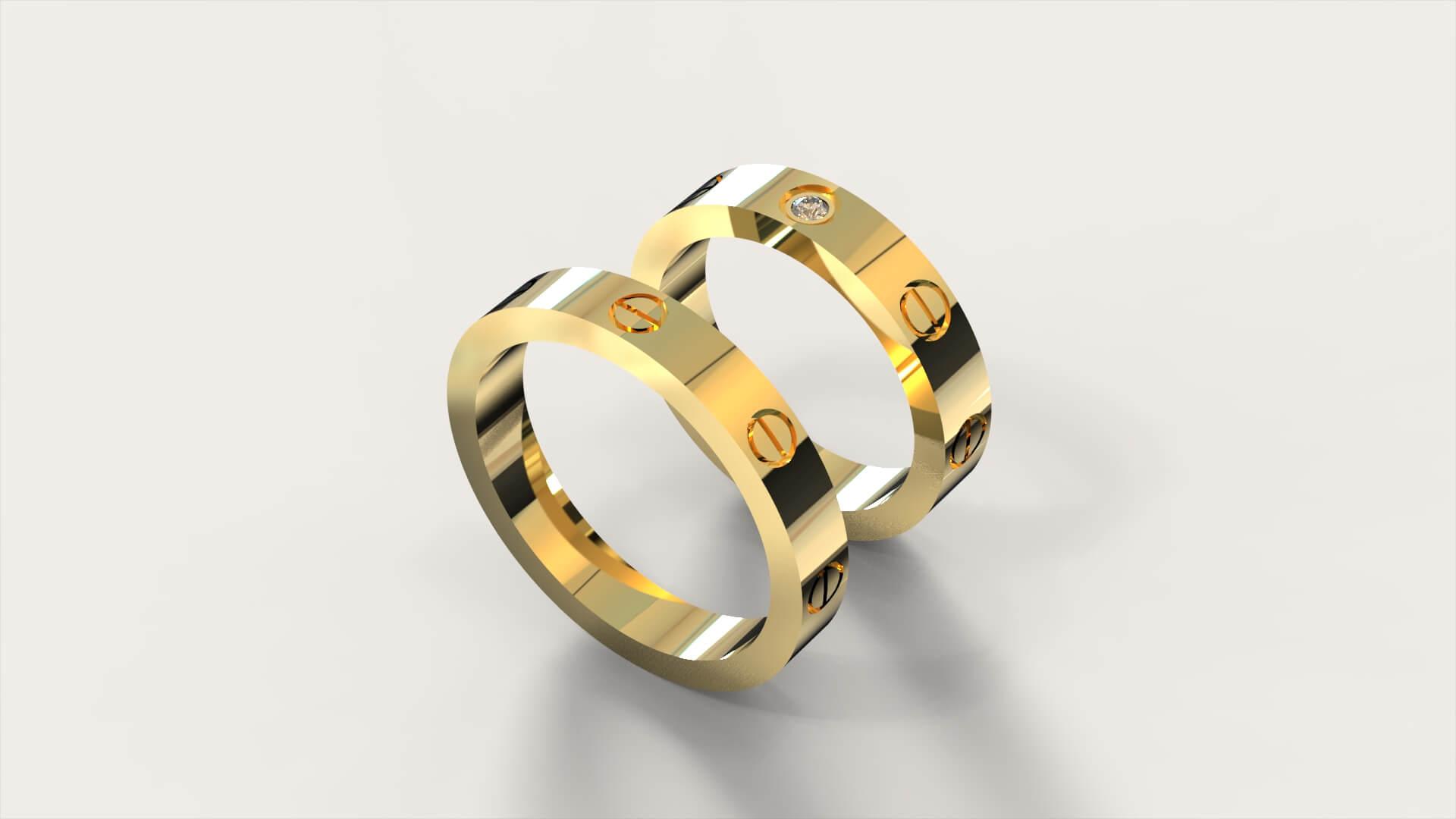 Обручальные кольца «Картье»