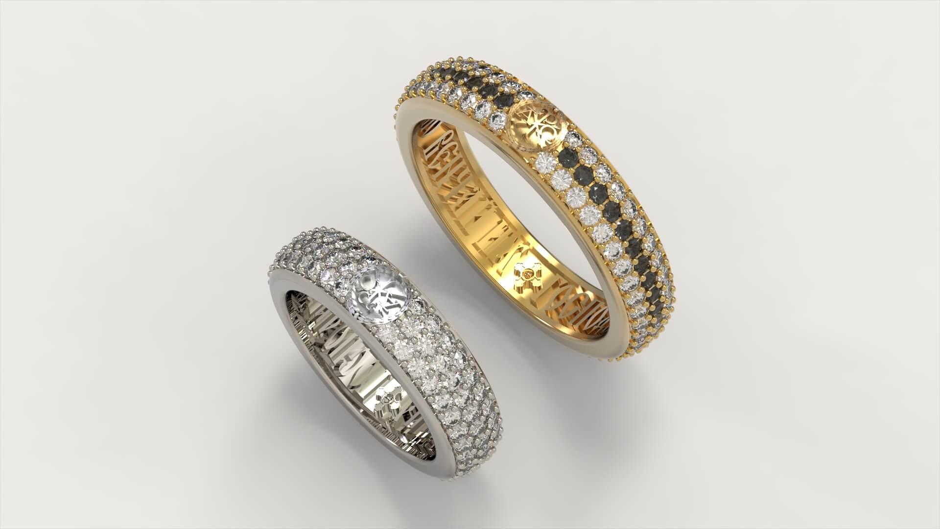 Венчальные кольца «Сим победишь»