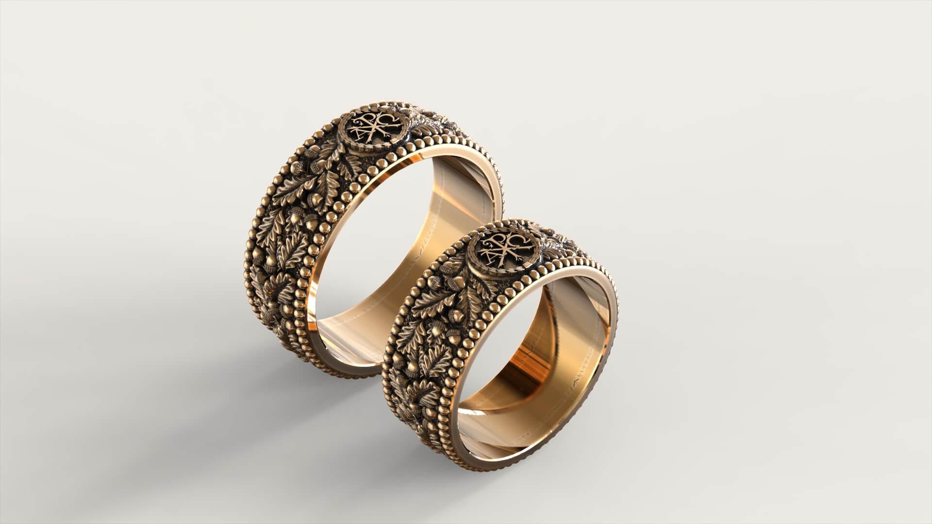 Венчальные кольца «Дуб Авраама»