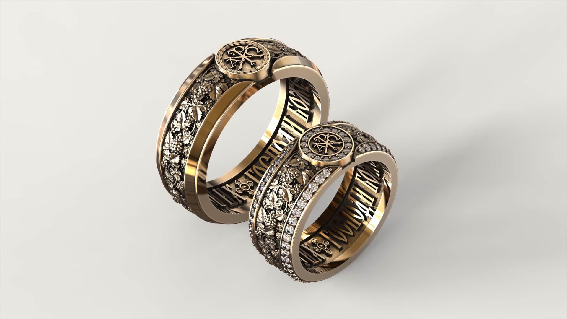 Венчальные кольца «Единую гроздь винограда»